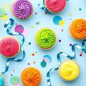 Colorful cupcake wallpaper