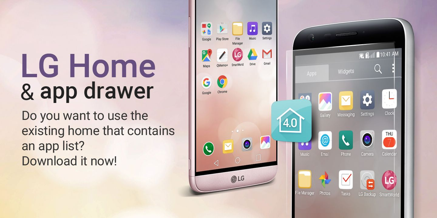 [LG Home 4.0] Would you like to use the old home screen which contains your app list? Download it now!