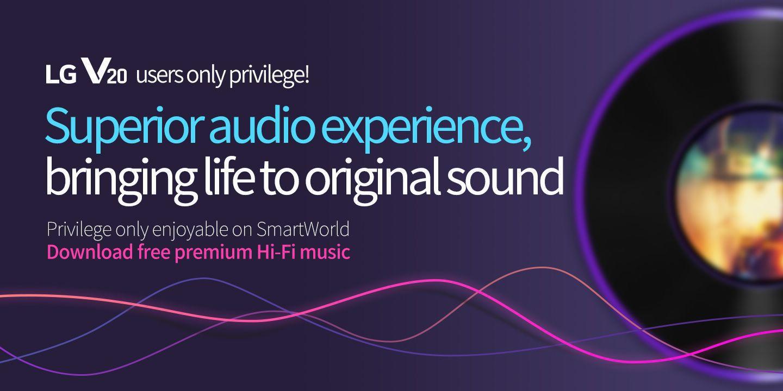 [Superior audio experience, bringing life to original sound] Privilege only enjoyable on SmartWorld Download free premium Hi-Fi music